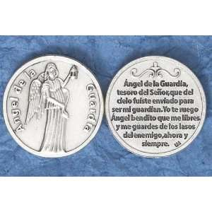 Guardian Angel Coin in Spanish   1 5/8