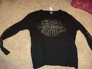 Harley Davidson HD Mens T Shirt Shirt XL XLarge Black Motorcycle Logo