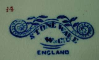 Blue Willow Plate YE OLDE CHESHIRE CHEESE Stoneware England