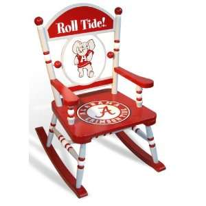 Alabama Crimson Tide Team Rocking Chair: Sports & Outdoors