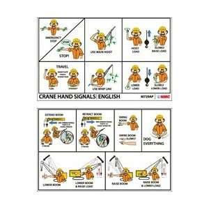 M729AP   Crane Hand Signs, 2 X 3 1/4, Laminated, 25 per