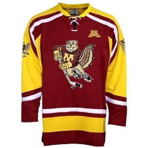 Golden Gophers Maroon Hat Trick Hockey Jersey
