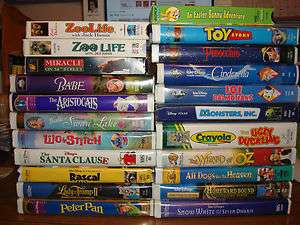 HUGE LOT of DISNEY VHS and CLASSIC MOVIES for Children Family
