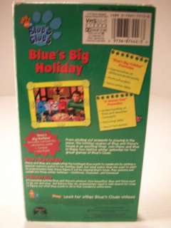 This is a Blues Clues Blues Big Holiday Childrens VHS Tape.