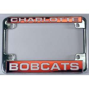 Bobcats Chrome Motorcycle License Plate Frame