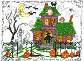Halloween House Ursula Michael Imaginating counted cross stitch