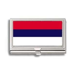 Montenegro Montenegrin Flag Business Card Holder Metal
