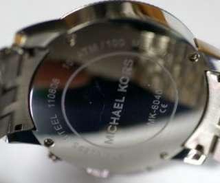 Michael Kors MK8040 Mens Chrono Black Dial Steel Watch