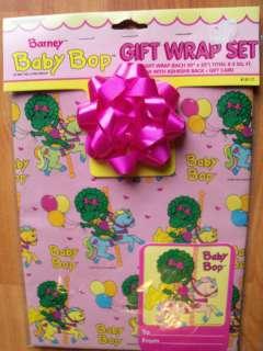Vintage 1993 Barneys Baby Bop Gift Wrap Set MIP