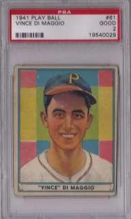 1941 Play Ball Vince DiMaggio card #61 PSA 2