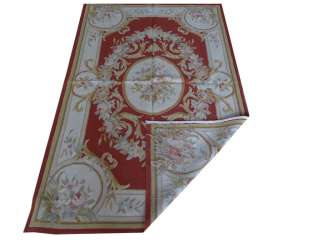 x6 Hand woven Wool French Aubusson Flat Weave Rug~Brand New~Free