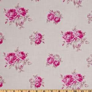 44 Wide French Hat Box Trirose Lavender Fabric By The