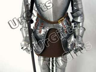 Medieval Knight Armor Vintage Art Bar Decor Hand Made Metal Figure D