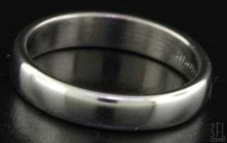 TIFFANY & CO 1999 HEAVY PLATINUM MENS WEDDING BAND RING SIZE 10