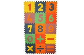 15 Piece Learning Math Mat Kids Baby Infant Play Interlocking Foam