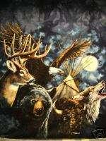 shirt INDIAN ANIMALS Native American NATURE WEAR