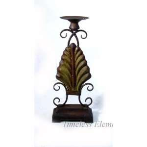 Rustic Wrought Iron Candle Holder Floor Table Stand  Home