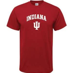 Indiana Hoosiers Cardinal Arch Logo T Shirt Sports