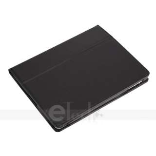 Apple iPad 2 Black Leather Case Smart Cover with Stand