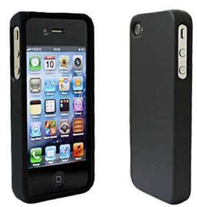 NEW SOFT BLACK SILICONE RUBBER CASE for iPhone 4 4S 4G 4GS G