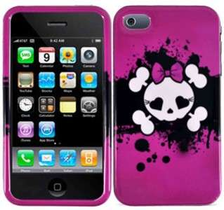 For Apple iPhone 4 4S HARD Protector Case Snap On Phone Cover Pink