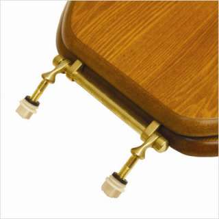 Comfort Seats Decorative Elongated Toilet Seat with Polished Brass