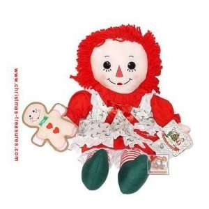 16 Inch Raggedy Ann Holiday Christmas Doll Toys & Games
