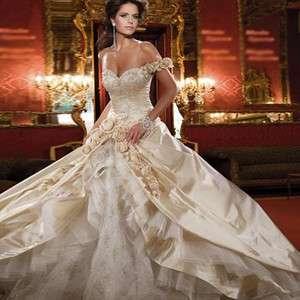 Luxury Wedding Dress Bride Bridal Gown Full length formal dress