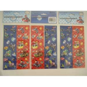Wii Super Mario Stickers ~ 8 Strip Set ~ 3 Sets Toys & Games