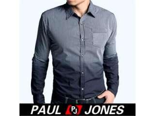 PAUL JONES 2011 NEW Men Fit Long Sleeve Gradient Casual/dress Shirt