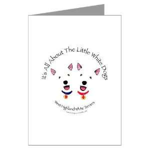 All About The Little White Dogs Greeting Cards Pa Pets Greeting Cards