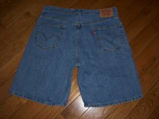 MENS LEVI 550 RELAXED FIT JEANS SHORTS 36 X 10 WOW