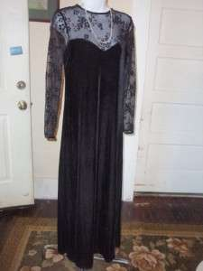 BLACK FORMAL DRESS size 6 by KATHIE LEE SHEER SLEEVES AND BACK