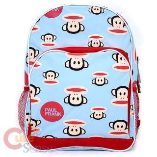 Paul Frank School Backpack 16 Large Bag  Face Red Blue Licensed