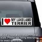 Love Heart My LAKELAND TERRIER Window Sticker Bumper