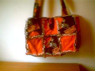 Fabric rag quilt purse bag tote NFL Cleveland Browns