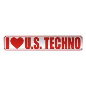 I LOVE U.S. TECHNO  STREET SIGN MUSIC Home Improvement