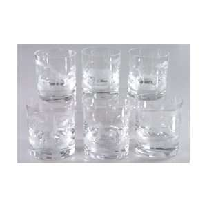 Moser Crystal Endangered Species DOF Set of Six Kitchen