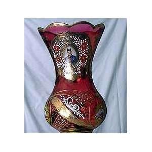 Lal e Shamdoon Accessories Red Shamdoon Top with Portrait