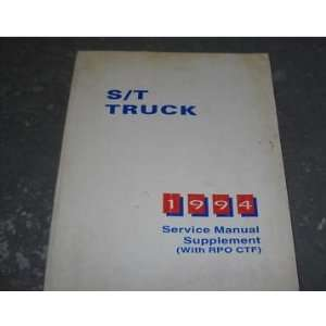 1994 Chevy S/T Truck RPO CTF Service Manual Supplement gm