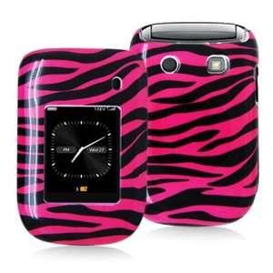 9670 PINK BLACK ZEBRA STRIPES PATTERN CASE Cell Phones & Accessories