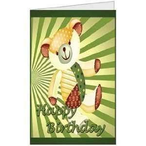 Birthday Boy Girl Bear Niece Nephew Son Greeting Card (5x7