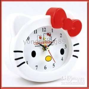 Hello Kitty Face Alarm Clock with Red Bow