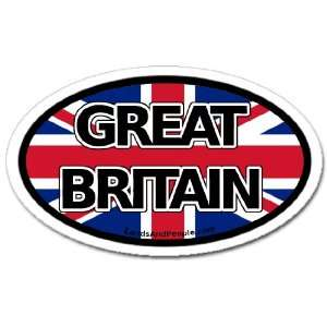 Great Britain and British Flag Car Bumper Sticker Oval