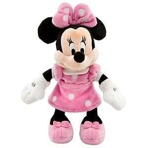 Disney Minnie Mouse Mini Bean Bag Plush   Pink Dress Toys & Games