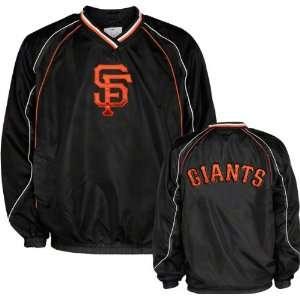 San Francisco Giants V Neck Pullover Black Jacket  Sports