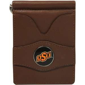 NCAA Oklahoma State Cowboys Brown Leather Billfold Wallet