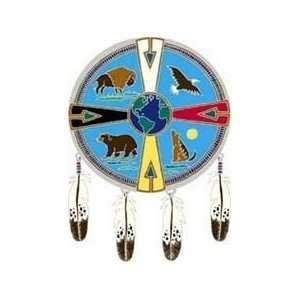 Native Visions Window Transparencies   Medicine Wheel