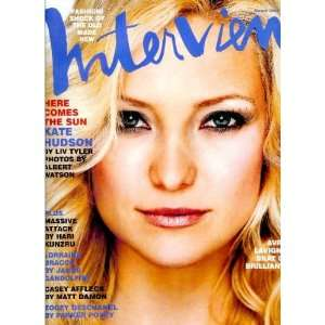 Interview Magazine   March 2003   Kate Hudson cover