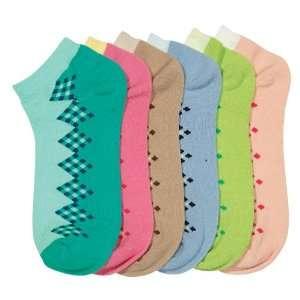 HS Women Fashion Socks Patch Design (size 9 11) 6 Colors 6